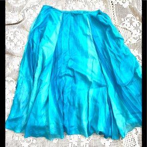 Ralph Lauren Blue Silk Skirt